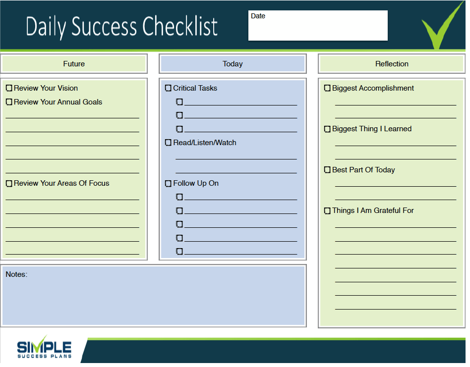 Daily Success Checklist Screenshot 2